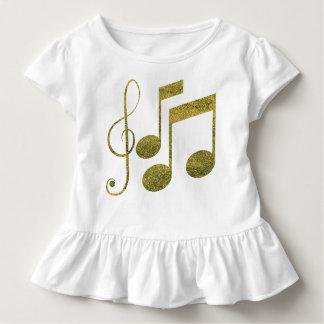 Golden Music Notes Toddler T-Shirt