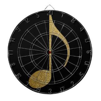 golden musical note dartboard