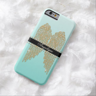 Golden n Diamond Jewel Look Angel Wings Bling Barely There iPhone 6 Case