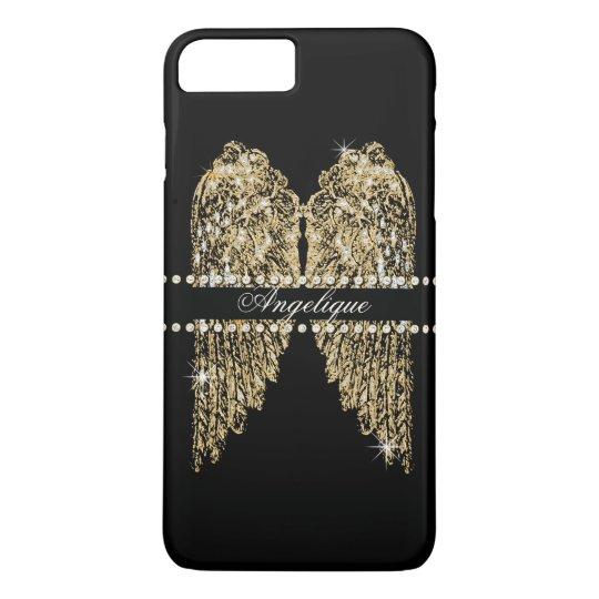 Golden n Diamond Jewel Look Angel Wings Bling