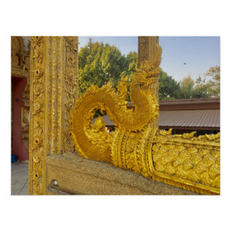 Golden Naga ~ Chiang Mai, Thailand Poster