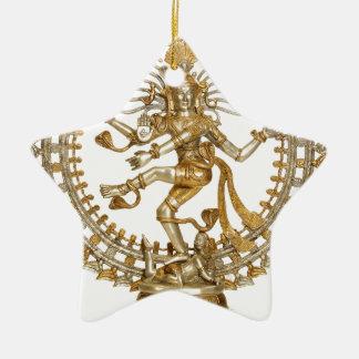 GOLDEN NATRAJ CHRISTMAS ORNAMENT