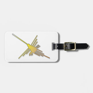 Golden Nazca Lines Hummingbird Tags For Luggage