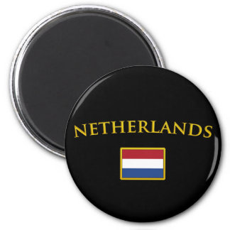 Golden Netherlands Magnet