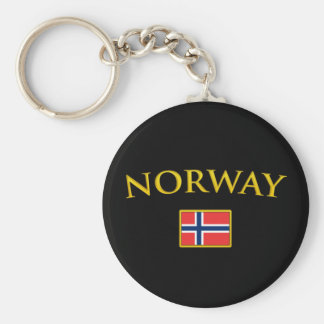 Golden Norway Key Ring