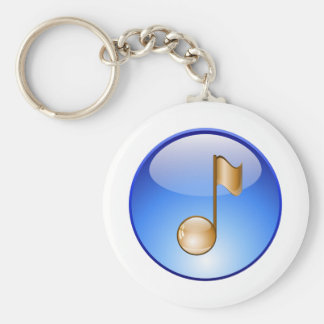 Golden Note Keychain