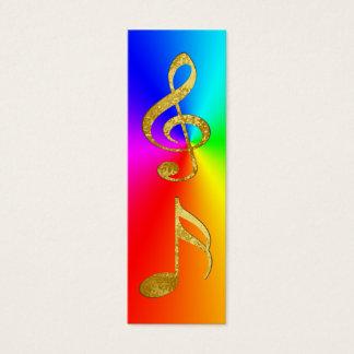 golden notes bookmark mini business card