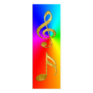 golden notes bookmark pack of skinny business cards