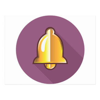 Golden Notification Bell Icon Postcard