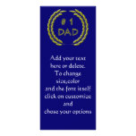 Golden Number 1 Dad Bookmark Template Full Colour Rack Card
