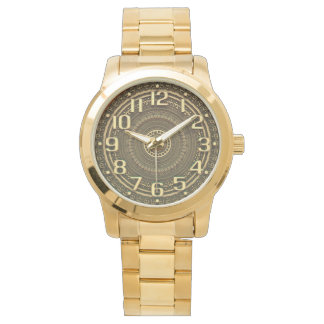 GOLDEN NUMBERS | with slight 3d illusion Wristwatch