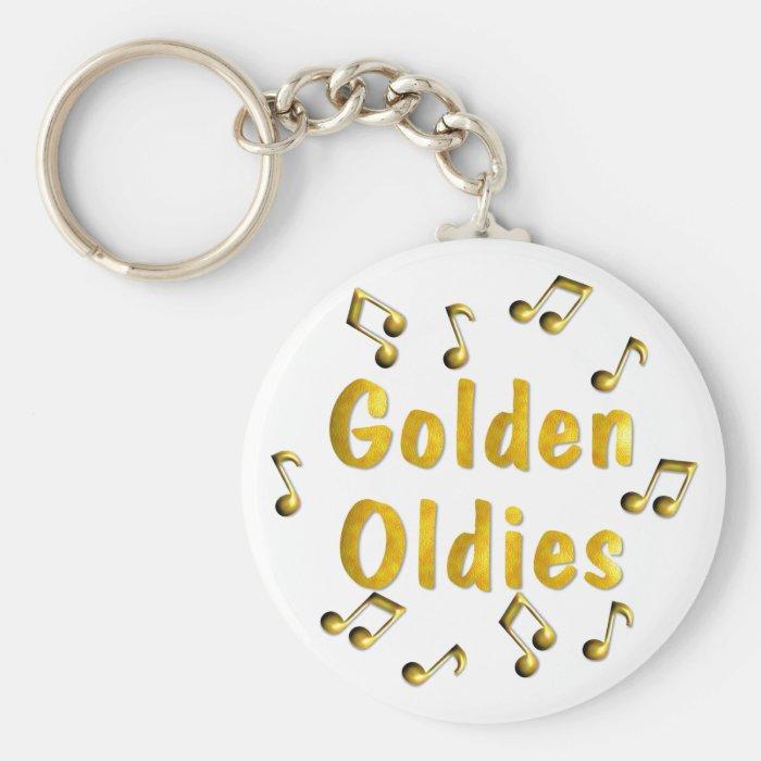 Golden Oldies Basic Round Button Key Ring