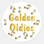 Golden Oldies Classic Round Sticker