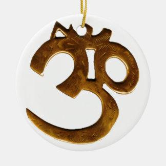 Golden Om Christmas Ornament