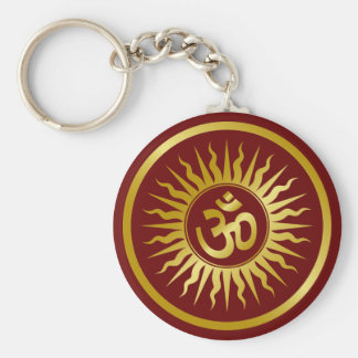 Golden Om Key Ring