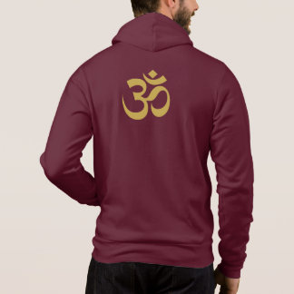 GOLDEN OM NAVY/SILVER ATHLETIC HOODIE = EXCEPTIONA