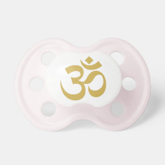 GOLDEN OM YOGA BABY PACIFIER/BABY SHOWER GIFT BooginHead PACIFIER