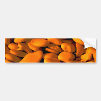 golden orange pebbles bumper sticker