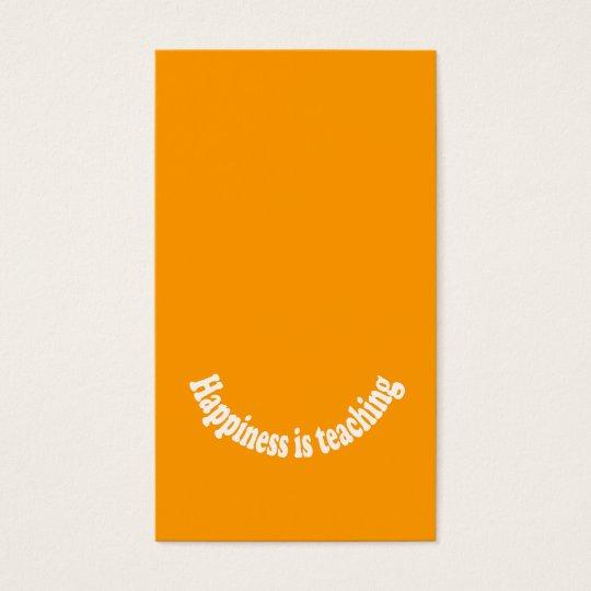 Golden-Orange Teacher Business Card