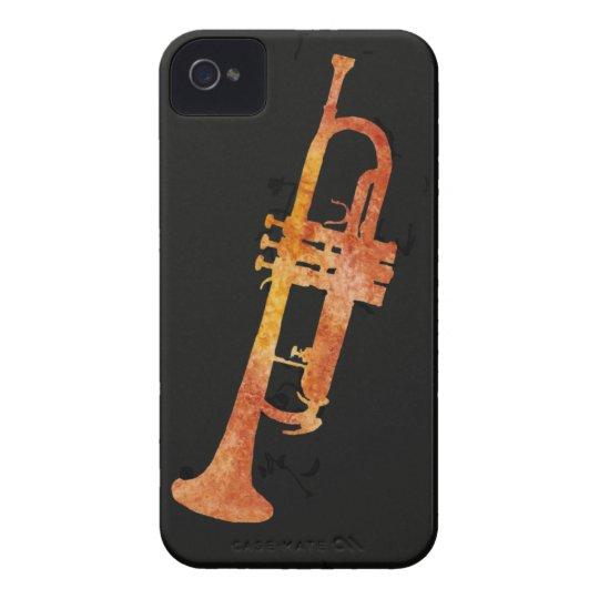 Golden Orange Trumpet Case-Mate iPhone 4 Case