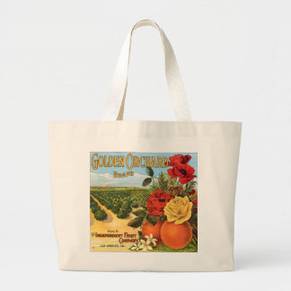 Golden Orchard Los Angeles Fruit Crate Label Jumbo Tote Bag