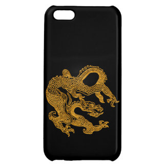 Golden oriental dragon 01 cover for iPhone 5C