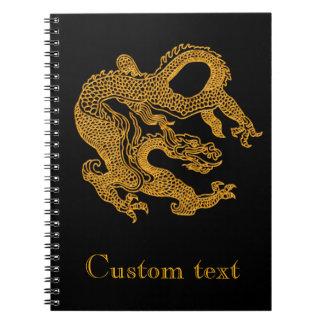Golden oriental dragon 01 notebooks
