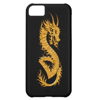 Golden oriental dragon 02 iPhone 5C case