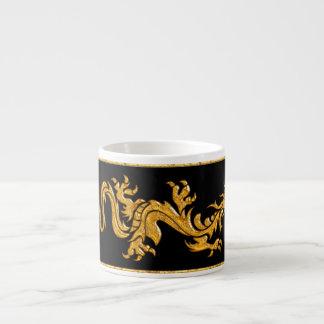 Golden oriental dragon 03 espresso cup