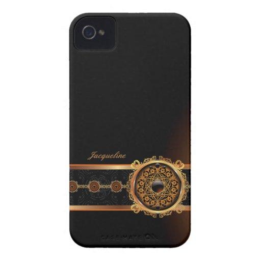 Golden Ornament Name Blackberry Bold Case