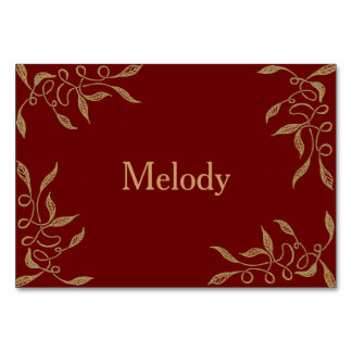 Golden Ornament Table / Place Card for Wedding Table Cards