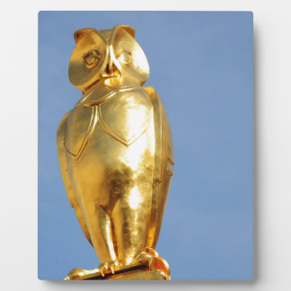 Golden owl plaque
