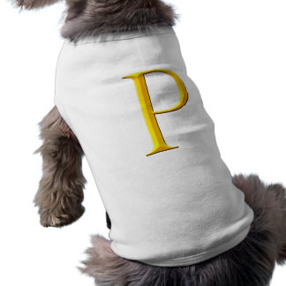 Golden P Monogram Sleeveless Dog Shirt