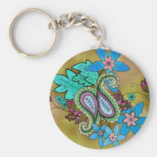 Golden Paisley keychain