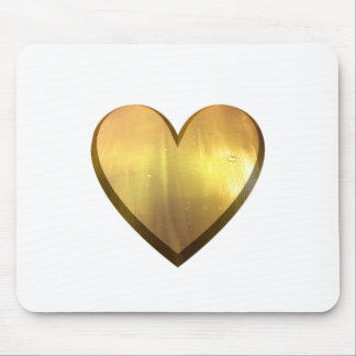 Golden Palm Heart Mouse Pad