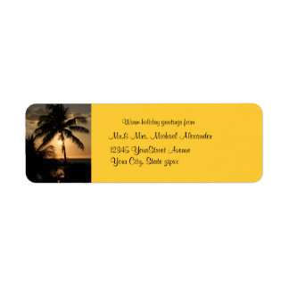 Golden Palm Tree Sunset Holiday