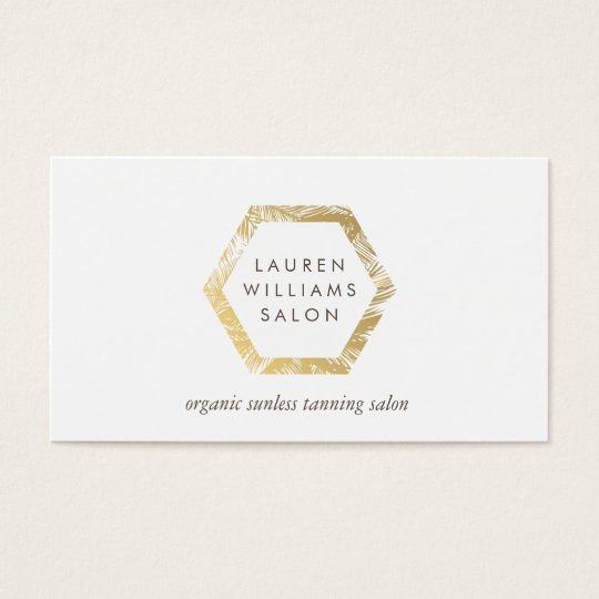 Golden Palms Spray Tanning Salon Logo on White