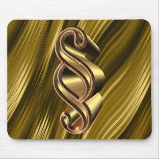 Golden paragraph symbol mouse pad