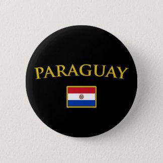Golden Paraguay 6 Cm Round Badge