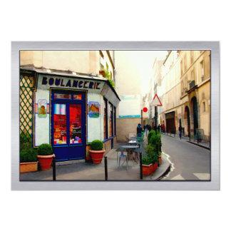 Golden Paris Street 13 Cm X 18 Cm Invitation Card