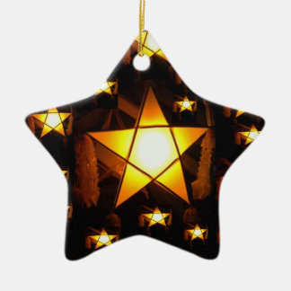 Golden Parol Christmas Ornament