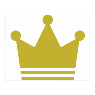 golden party crown icon postcard
