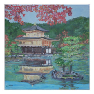 Golden Pavillion in Kyoto Poster