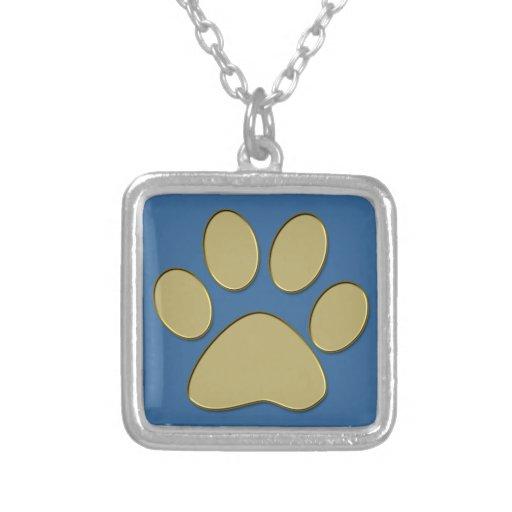 golden paw custom necklace