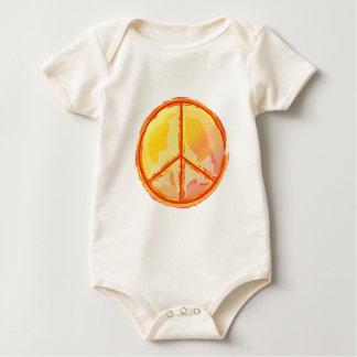 Golden Peace Baby Bodysuit
