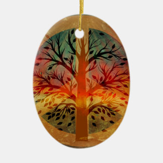 Golden Peace Sign Christmas Ornament