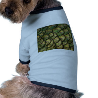 Golden Peacock Feathers Dog Tshirt