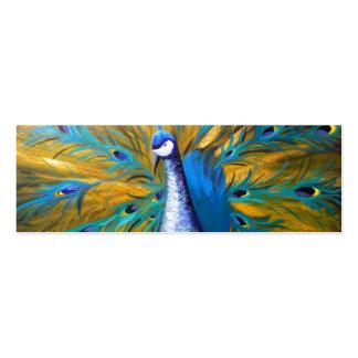 Golden Peacock ! (Kimberly Turnbull Art - Acrylic) Business Card Template