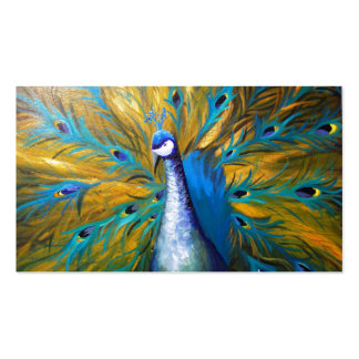 Golden Peacock ! (Kimberly Turnbull Art - Acrylic) Pack Of Standard Business Cards