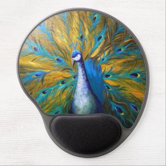 Golden Peacock (Kimberly Turnbull Art) Gel Mouse Mat